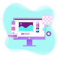 Vecteur de logiciel de design graphique