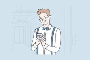 smm, blog, concept de selfie. vecteur
