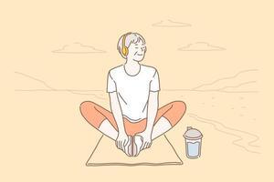 détente, mode de vie, concept de santé vecteur