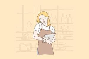 commander en ligne concept de nourriture vecteur