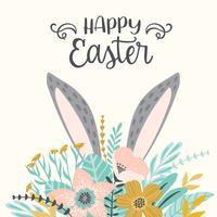 Joyeuses Pâques. Modèle vectoriel pour carte, affiche, flyer et autres utilisateurs.