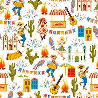 Fête latino-américaine, la fête du mois de juin au Brésil. Modèle sans couture.