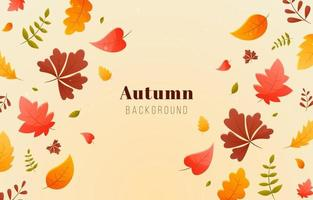 fond de feuillage automne vecteur