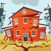 catastrophe naturelle catastrophe et crise vecteur
