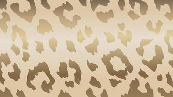 vecteur de fond de peau de léopard d'or de luxe. peau d'animal exotique à la texture dorée. illustration vectorielle.