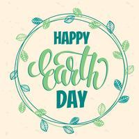 Concept de Jour de la Terre avec lettrage à la main.