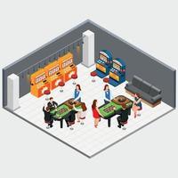illustration vectorielle de machine de jeu concept vecteur