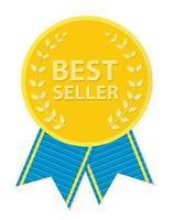 étiquette d'or best-seller. illustration vectorielle vecteur