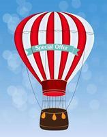 illustration vectorielle de ballon à air fond vecteur