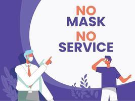 pas de masque facial pas de vecteur de concept d'illustration de service