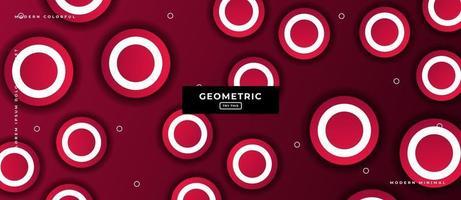 fond de formes de cercle géométrique rouge. vecteur