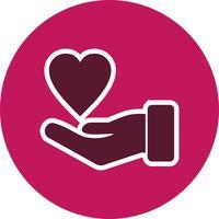 icône de vecteur de charité