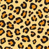 motif de texture de fond sans couture peau de léopard vecteur