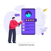 enquête client utilisateur vecteur