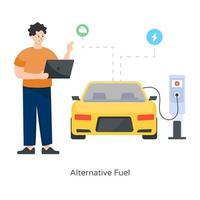 carburant et gaz alternatifs vecteur