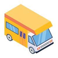 Caravane et route vecteur