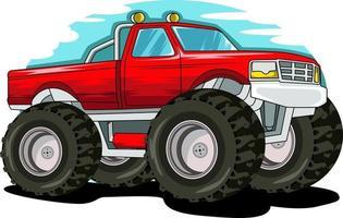 vecteur d'illustration de camion monstre hors route