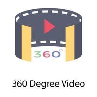 Vidéo à 360 degrés vecteur