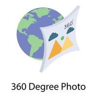 photo à 360 degrés vecteur