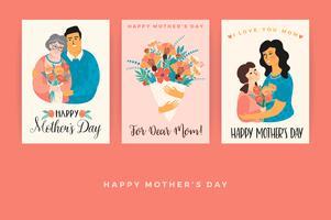 Bonne fête des mères. Modèles de vecteur pour carte, affiche, bannière et autres utilisations.