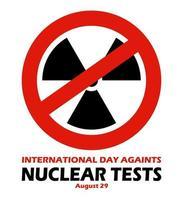 journée contre l'illustration vectorielle des essais nucléaires, le 29 août vecteur