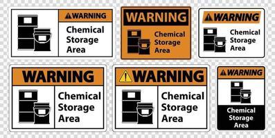 Avertissement signe de symbole de stockage chimique isoler sur fond transparent, illustration vectorielle vecteur