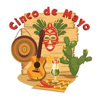 Cinco de Mayo. Illustration vectorielle