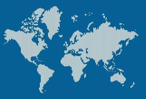 carte du monde de la géométrie abstraite moderne de simplicité. vecteur