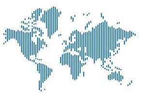 carte du monde de la géométrie abstraite moderne de simplicité. illustration vectorielle. vecteur