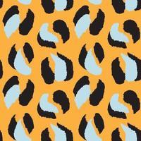 fond transparent animal léopard orange vecteur