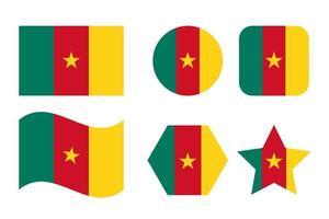 drapeau du cameroun illustration simple pour le jour de lindépendance ou les élections vecteur