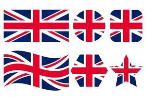 drapeau du royaume-uni de grande-bretagne illustration simple pour le jour de l'indépendance ou les élections vecteur