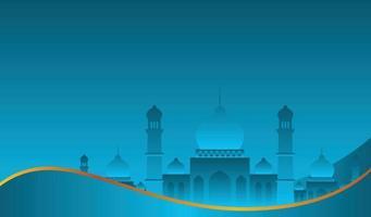 conception de fond islamique pour ramadan kareem et eid mubarak ou eid al adha vecteur