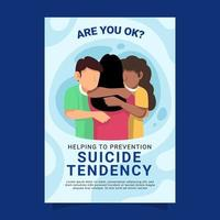 affiche de prévention du suicide vecteur