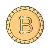 icône de vecteur bitcoin