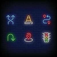 vecteur de style de signalisation au néon