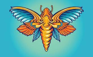 papillon couleur plein arc-en-ciel vecteur