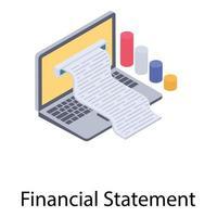 état financier en ligne vecteur