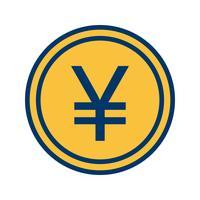 icône de vecteur de yen