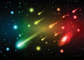 étoiles d'une planète et d'une galaxie dans un espace libre. météore, météorite. fond de galaxie. voie Lactée vecteur