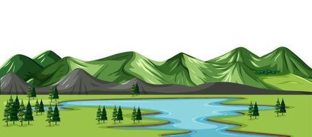 un fond de paysage nature verte vecteur