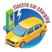 illustration vectorielle de fond de station de recharge électromobile vecteur