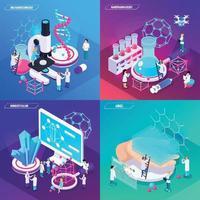 illustration vectorielle de nanotechnologie 2x2 design concept vecteur
