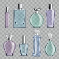 bouteilles en verre de parfum mis en illustration vectorielle vecteur