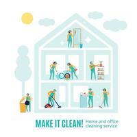 illustration vectorielle de nettoyage professionnel publicité illustration vecteur