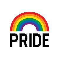 symbole du drapeau arc-en-ciel du mois de fierté. célébration de l'événement du mois de la fierté isolée sur fond blanc. vecteur