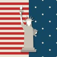 statue de la liberté usa, 4 juillet jour de l'indépendance. vecteur