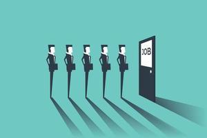 hommes d'affaires en attente d'un entretien d'embauche. concept simple avec situation de travail, recrutement ou embauche. vecteur