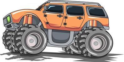 camion monstre hors route illustration vecteur