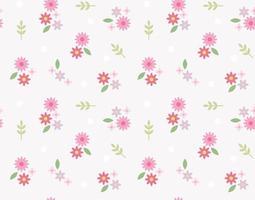 de jolies fleurs créent un motif rétro. modèle de conception de modèle simple. vecteur